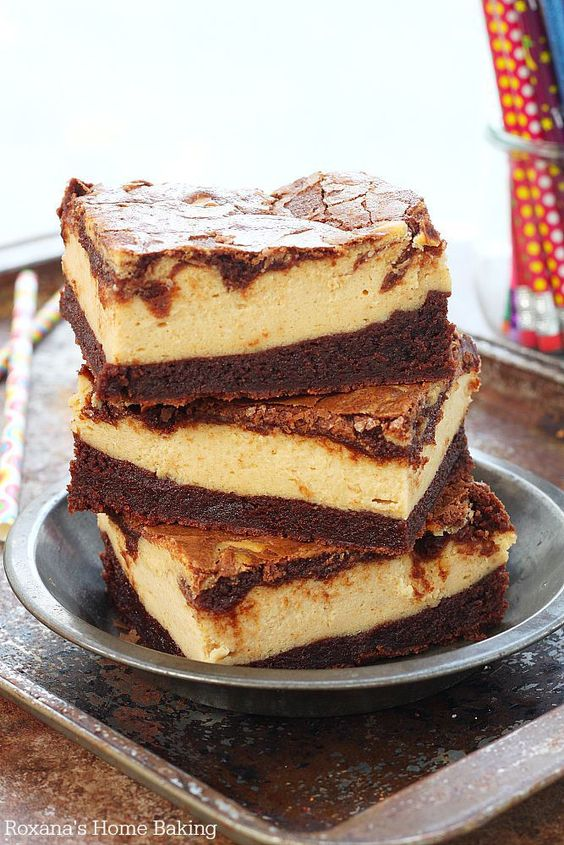 Peanut butter cheesecake, Homemade brownies and Cheesecake brownies on ...