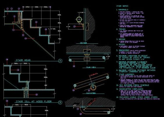 Stair details cad library autocad blocks autocad for Autocad landscape architecture