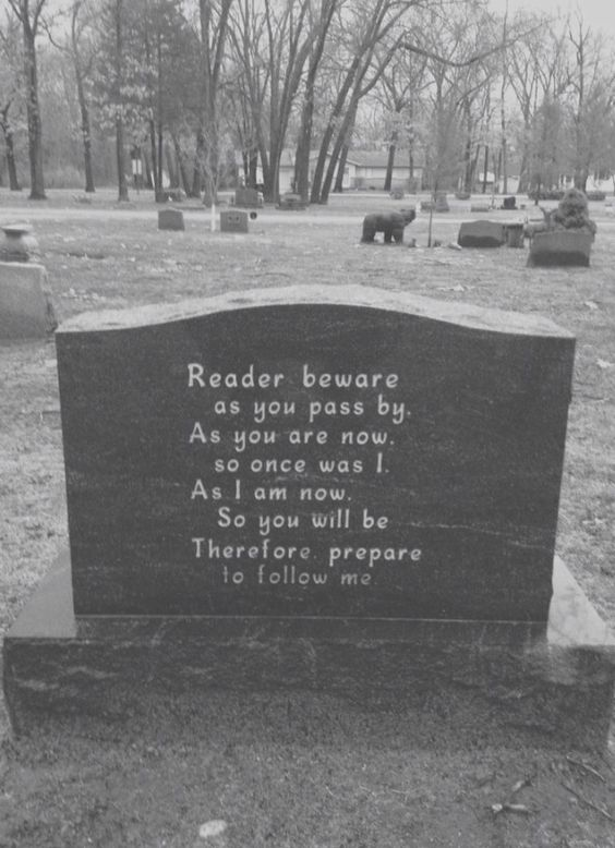 This will be on my headstone