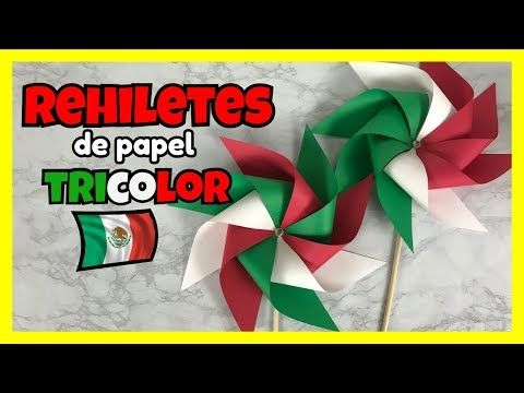 Como Hacer Rehiletes De Papel Rehiletes Tricolor