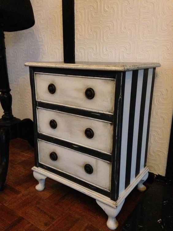 Hand Painted Shabby Chic Chest Of Drawers Small Vintage BESPOKE ...
