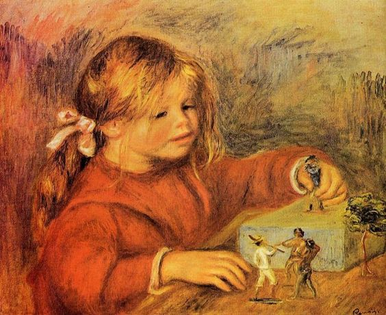 Claude Renoir Playing : Pierre Auguste Renoir : Museum Art Images : Museuma