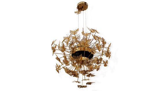 Kronleuchter aus Messing http://www.bykoket.com/guilty-pleasures/lighting/nymph-chandelier.php