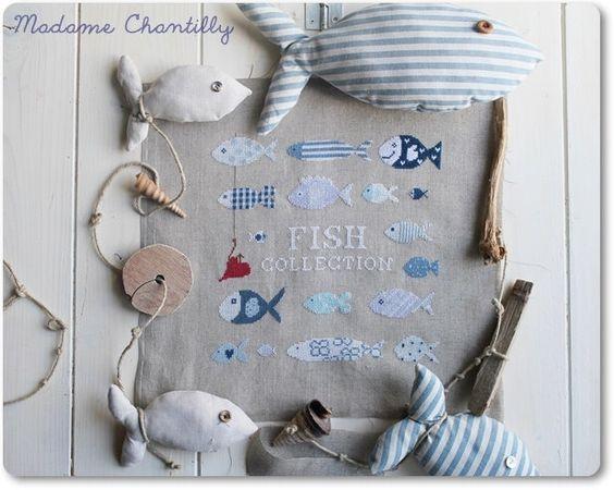 Modello di punto croce: Raccolta di pesce di MadameChantillyxxx su Etsy https://www.etsy.com/it/listing/189590682/modello-di-punto-croce-raccolta-di-pesce