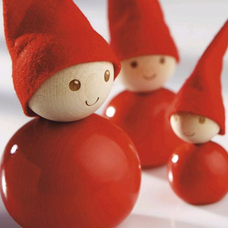 Red home tonttu wooden Christmas decoration