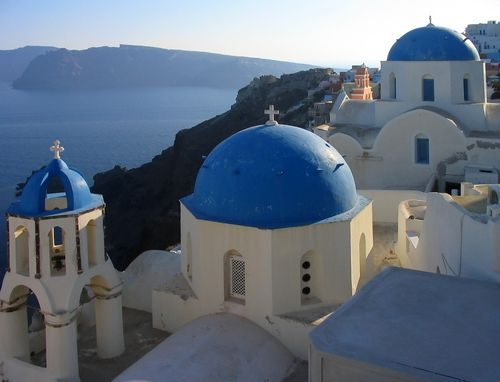 Modern Architecture Greece greek church with blue domes | architecture | pinterest | churches