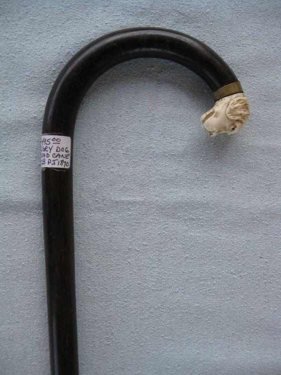 Ivory Dog Head Cane