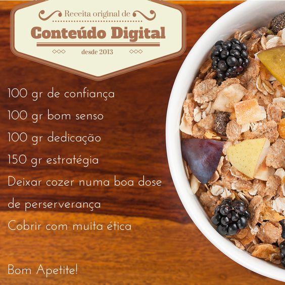 """Receita de """"Conteúdo Digital""""  #receita #conteudodigital #redessociais #socialmedia"""