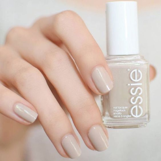 Trend-setting, neutral pastel is the most alluring manicure anywhere! essie Sand Tropez mani is not to be underestimated.