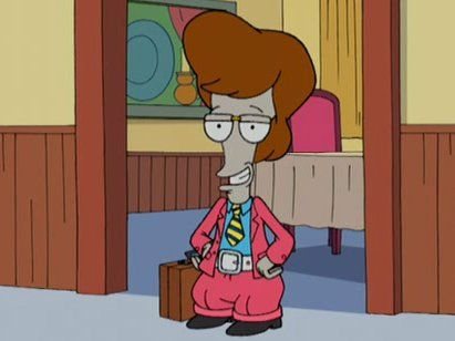 American Dad in a pants-suit