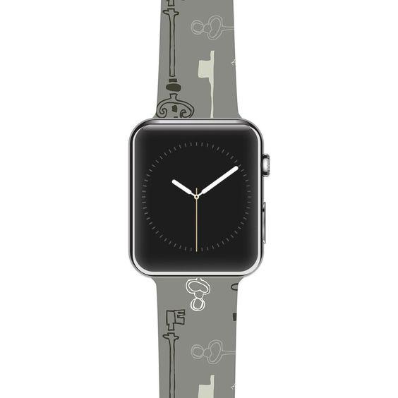 """Laurie Baars """"Keys Gray"""" Grey Apple Watch Strap"""