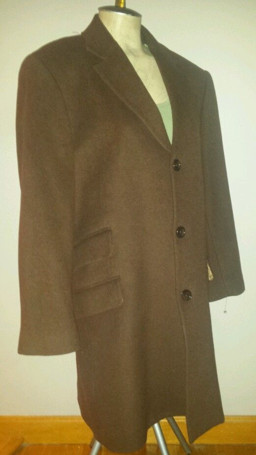MANTONI CASHMERE WOOL BLEND BROWN MENS DRESS COAT MILAN ITALY 40 #MANTONI #DRESSCOAT