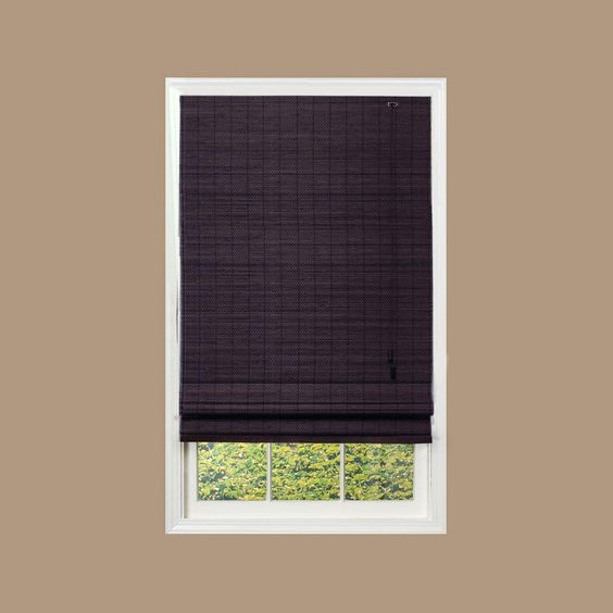 home decorators collection espresso beveled reed weave