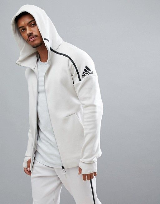 Image 1 of Adidas ZNE 2 hoodie in cream