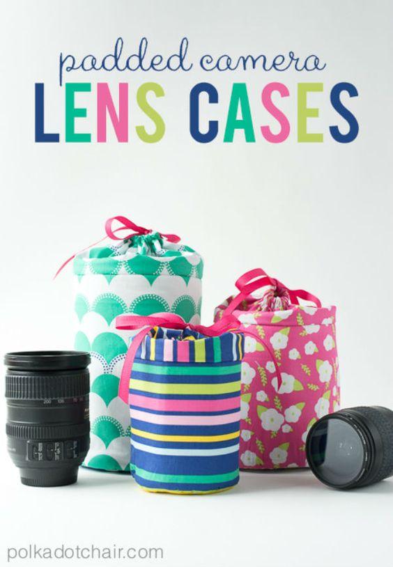 sacoche objjectif appareil photo DIY : des housses pour vos objectifs dappareil photo