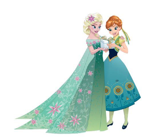 イラストのアナと雪の女王