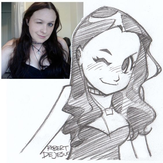Seefed Sketch by Banzchan American artist Rober DeJesus turns stranger's photos into anime versions of themselves