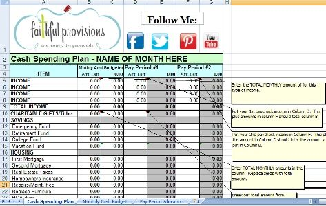 Dave Ramsey Based Budgets - Correct Link http://faithfulprovisions.com/2012/01/02/how-to-budget-budget-worksheet-dave-ramsey/