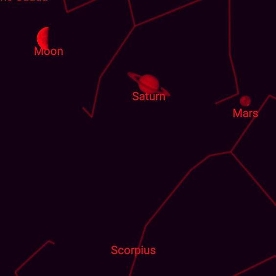 provocative-planet-pics-please.tumblr.com Saturn and Mars are so visible in the southern sky right now (screenshot since we live downtown) #planets #saturn #mars #earlymorningsky #sagitarius by 1stacyw https://www.instagram.com/p/BDk0vhbnu8E/