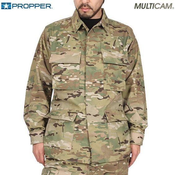 米軍で正式採用されたCRYE社製のMultiCam生地を使い、米軍納入メーカー『PROPPER(プロッパー)がBDUコンバットジャケットを製作!!