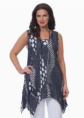 Big Sizes Womens Clothing | Clothes for Larger Size Women - INTO THE BLUE TANK - TS14      I Bought this.