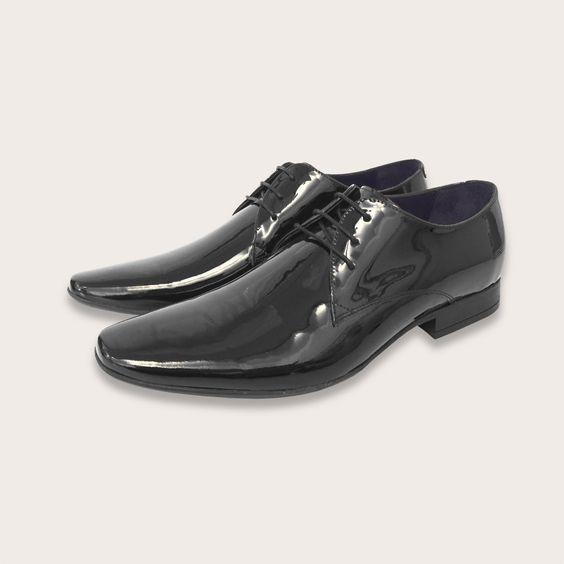 Boston ~ Patent Black leather...  perfect for evening attire!