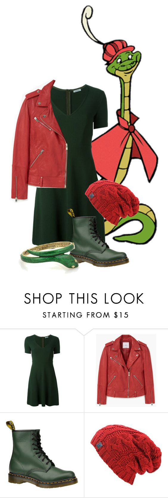 """""""Sir Hiss: winter is coming."""" by gema-z ❤ liked on Polyvore featuring P.A.R.O.S.H., MANGO and Dr. Martens"""