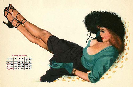 1950 Pin Up Calendar
