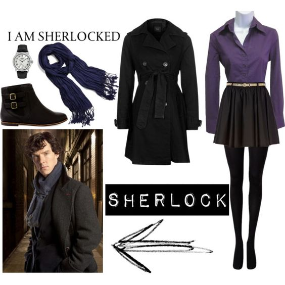 """Sherlock Look"" by power-of-the-pineapple on Polyvore"