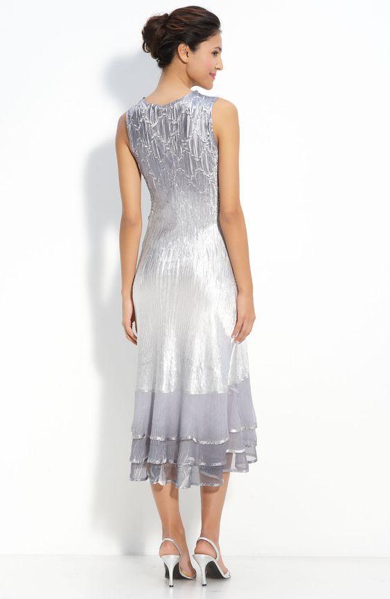 mother of the bride dresses tea length | ... Line V-neck Tea-length Charmeuse Chiffon Mother of the Bride Dress