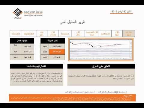 التحليل الفنى البورصة المصرية اليوم الاثنين 23-11-2015 من شركة عربية اون...