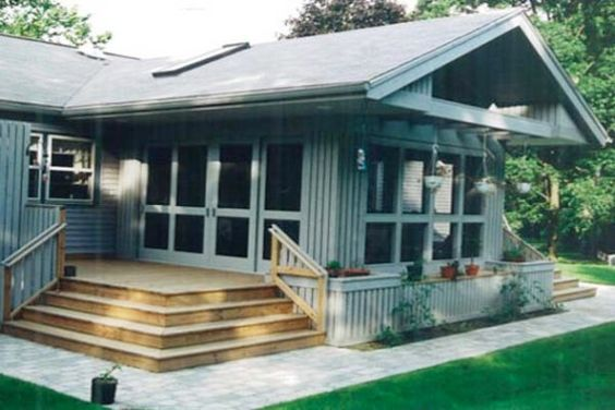 Mobile home porch porch designs and front porch design on for Mobile home plans with porches