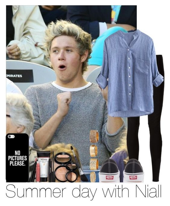 """""""Summer Day With Niall"""" by hazzgirl03 ❤ liked on Polyvore featuring beauty, Rick Owens Lilies, Vans, Casetify, Laura Geller and Charlotte Russe"""