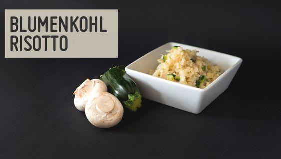 Blumenkohl Risotto mit Pilzen und Zucchini – Paleo360.de