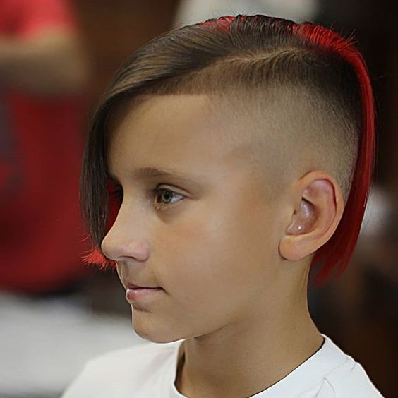 colored undercuts hairstyle boys