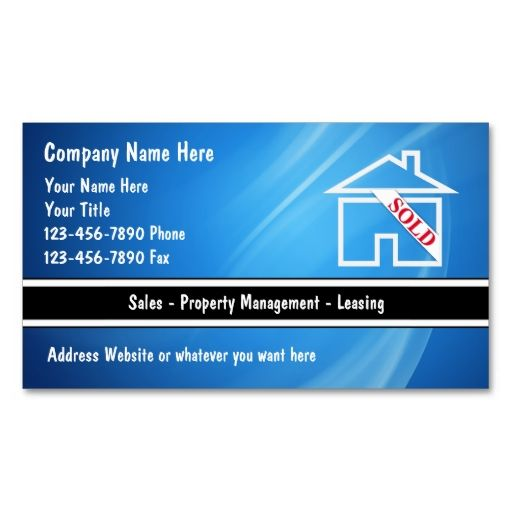 Real Estate Business Cards. Make your own business card with this great design. All you need is to add your info to this template. Click the image to try it out!