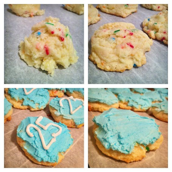 Cake Batter cookies for a 25th anniversary I did