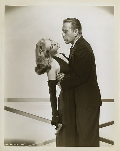 Stunning photo of Lizabeth Scott and Bogart from Dead Reckoning