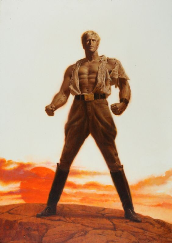 Doc Savage - The Man of Bronze movie poster art by Roger Kastel