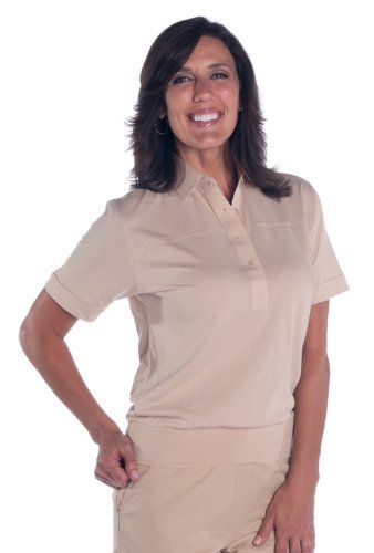 Leon Levin Banded Bottom Ladies Polo Shirt Women 39 S Tops