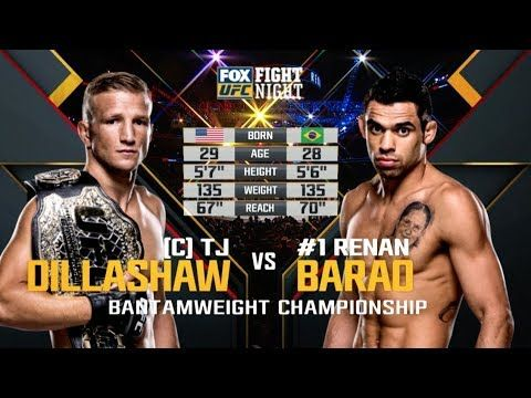 Ufc 227 Free Fight Tj Dillashaw Vs Renan Barao 2 Ufc Tj Dillashaw Fight