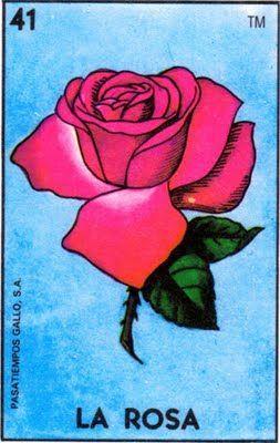La rosa, lotería mexicana