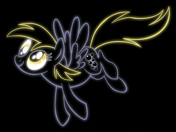 Neon derpy desktop wallpaper my little pony 3 - Princess luna screensaver ...