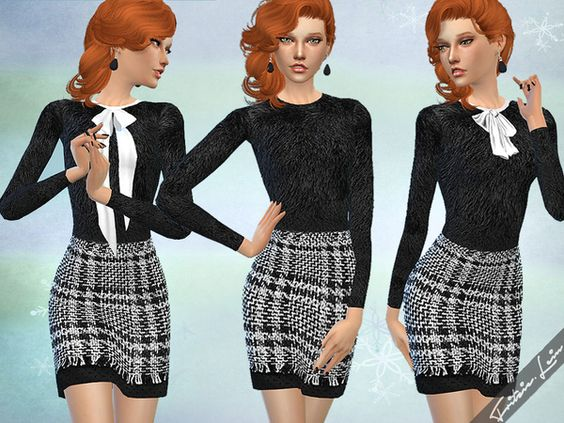 Fritzie.Lein's Dress with Checked Skirt