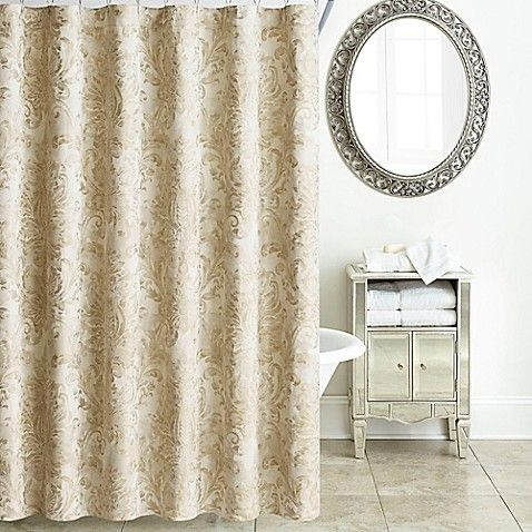 Waterford Annalise Shower Curtain In Gold With Images Curtains
