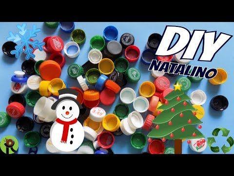 Ideias Com Tampinhas De Garrafa Pet Natal Youtube Tampas De