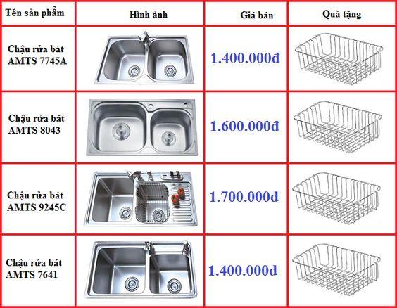Giá bán mới nhất của chậu rửa bát AMTS tháng 6/2019