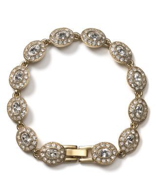 Carolee Champagne Toast Oval Stone Bracelet, 7