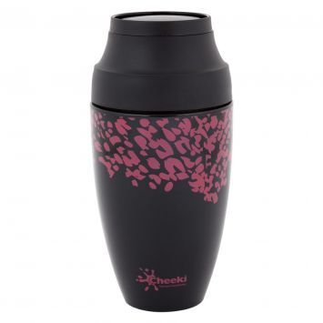 Environmentally friendly, hand the Cheeki Coffee Mug over to your barista each morning, for a cup of coffee that stays how you like it for longer, without wasting disposable cups.: Disposable Cups, Cheeki Coffee, Coffee Cups, Pink Leopard, Stainless Steel Coffee Mugs, Drink Bottles, Cup Of Coffee, Coffeemug Mums, Cheeki Stainless