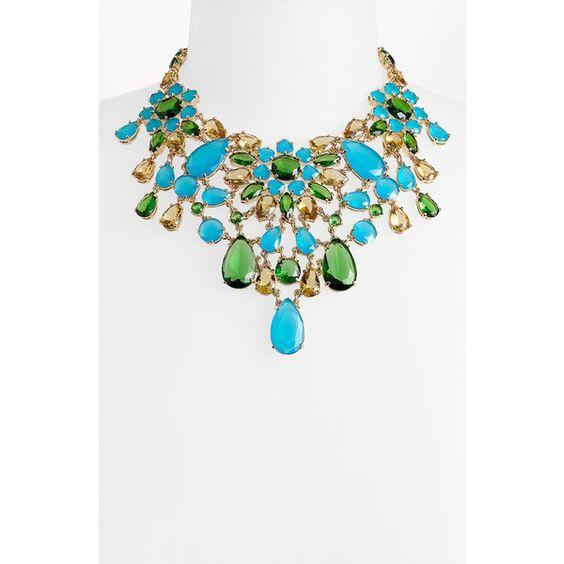 kate spade new york 'solarium' bib statement necklace found on Polyvore